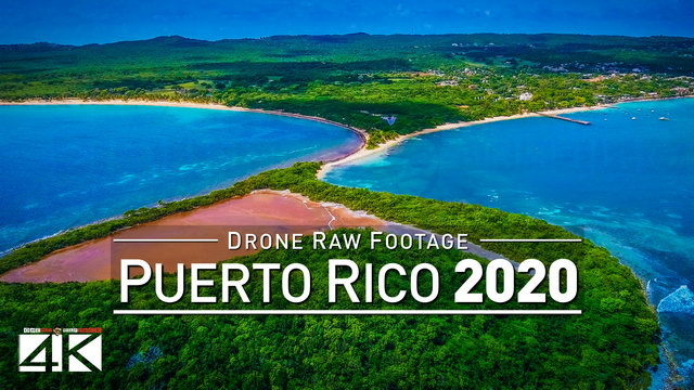 【4K】Drone RAW Footage | This is PUERTO RICO 2020 | Vieques | Fajardo | UltraHD Stock Video