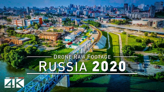 【4K】Drone RAW Footage | This is RUSSIA 2020 | Novosibirsk | Sibiria and More | UltraHD Stock Video