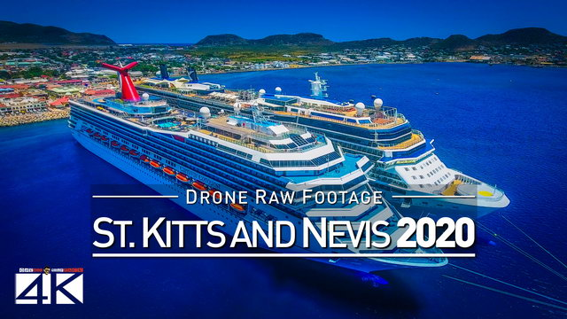 【4K】Drone RAW Footage | This is SAINT KITTS AND NEVIS 2020 | Basseterre & More | UltraHD Stock Video