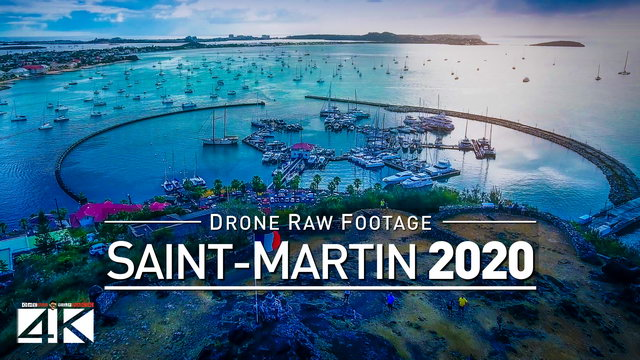 【4K】Drone RAW Footage | This is SAINT MARTIN 2020 | Marigot | UltraHD Stock Video