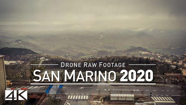 【4K】Drone RAW Footage | This is SAN MARINO 2020 | City of San Marino | UltraHD Stock Video