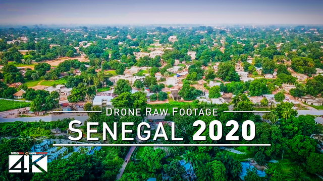 【4K】Drone RAW Footage | This is SENEGAL 2020 | Ziguinchor | UltraHD Stock Video