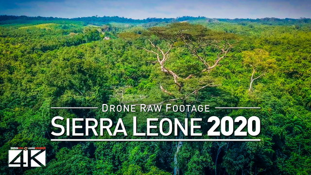 【4K】Drone RAW Footage | This is SIERRA LEONE 2020 | West Africa | UltraHD Stock Video