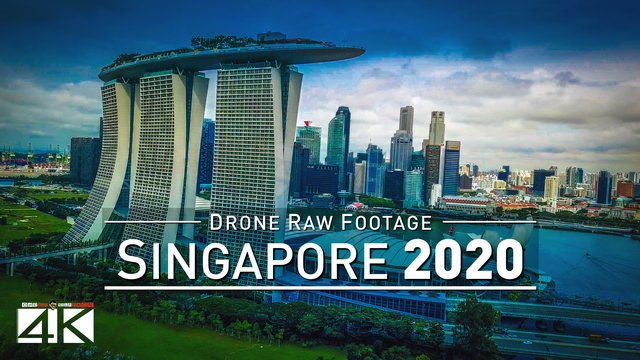 【4K】Drone RAW Footage | This is SINGAPORE 2020 | The Lion City | UltraHD Stock Video