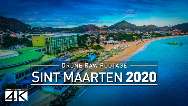 【4K】Drone RAW Footage | This is SINT MAARTEN 2020 | Philipsburg and More | UltraHD Stock Video