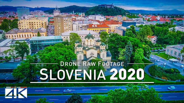 【4K】Drone RAW Footage | This is SLOVENIA 2020 | Capital City Ljubljana | UltraHD Stock Video
