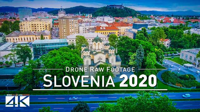 【4K】Drone RAW Footage | This is SLOVENIA 2020 | Capital City Ljubljana | UltraHD Stock Video