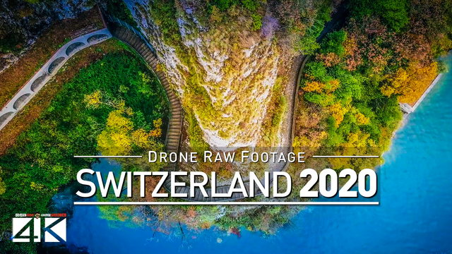 【4K】Drone RAW Footage | This is SWITZERLAND 2020 | Lugano | Gandria | UltraHD Stock Video