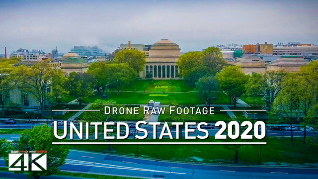 【4K】Drone RAW Footage | These are the UNITED STATES 2020 | Boston, Massachusetts | UltraHD Stock Vid