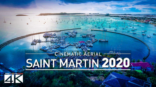 【4K】SAINT MARTIN from Above 2020 | Capital City Marigot | Cinematic Wolf Aerial™ Drone Film | 539