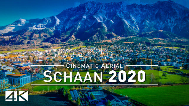 【4K】Schaan from Above - LIECHTENSTEIN 2020 | Cinematic Wolf Aerial™ Drone Film