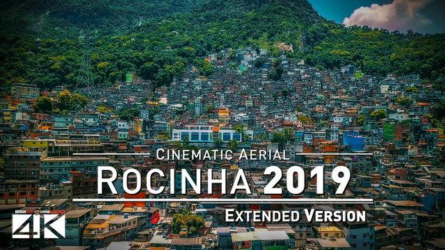 【4K】Drone Relax Travel Video | ROCINHA ..:: Brazils largest Favela Rio de Janeiro 2019