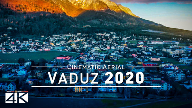 【4K】Vaduz from Above - Capital of LIECHTENSTEIN 2020 | Cinematic Wolf Aerial™ Drone Film