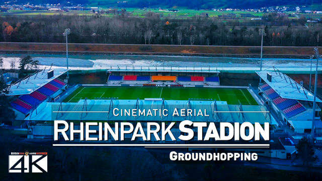 【4K】Rheinpark Stadion from Above - LIECHTENSTEIN 2020 | Stadium FC Vaduz | Cinematic Wolf Aerial™