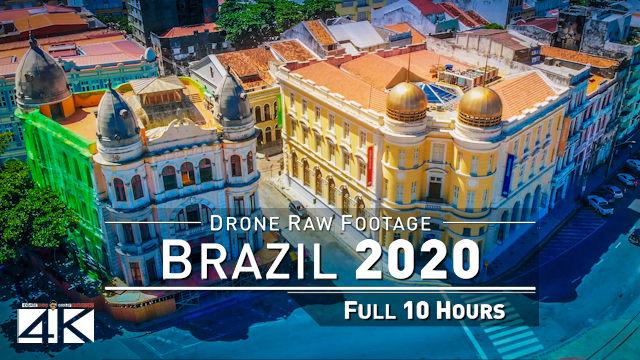 【4K】Drone RAW Footage | This is NORTHEAST BRAZIL 2020 | Natal Recife Joao Pessoa UltraHD Stock Video