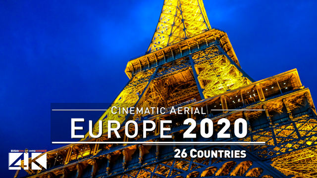 【4K】The Beauty of EUROPE 2020 | 26 Countries from Above | Cinematic Wolf Aerial™ Drone Film