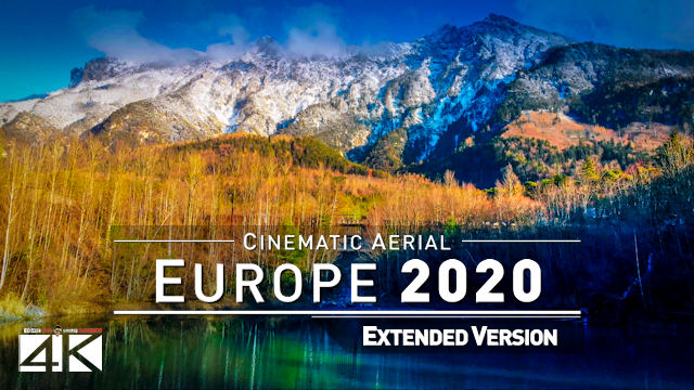 【4K】26 Countries of Beautiful EUROPE from Above 2020 | Cinematic Wolf Aerial™ Drone Film