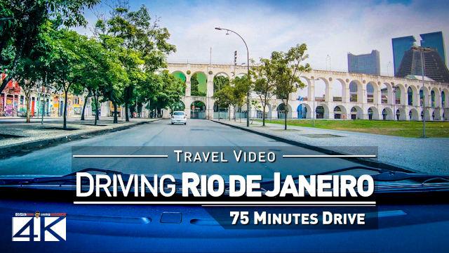 【4K】Driving through Rio de Janeiro (Brazil) | 2020