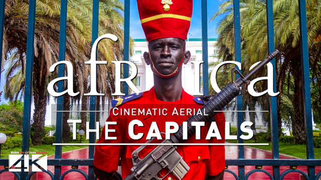 【4K】7 Capitals of AFRICA from Above | Cinematic Wolf Aerial™ Drone Film