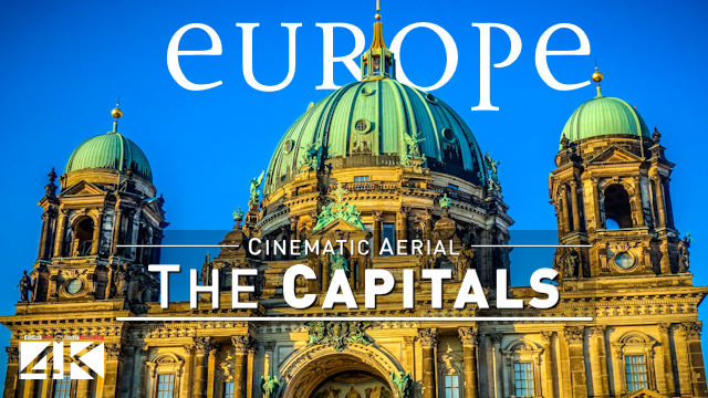 【4K】16 Capitals of EUROPE from Above | Cinematic Wolf Aerial™ Drone Film
