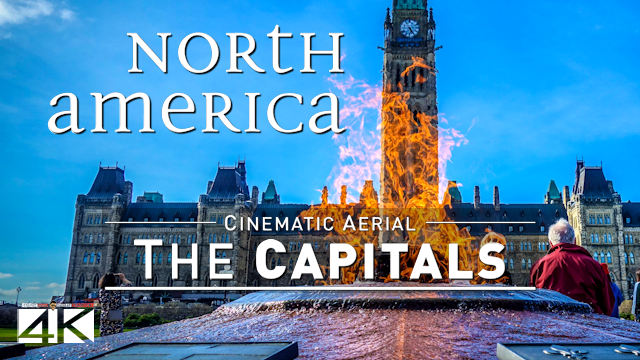 【4K】12 Capitals of NORTH AMERICA from Above | Cinematic Wolf Aerial™ Drone Film
