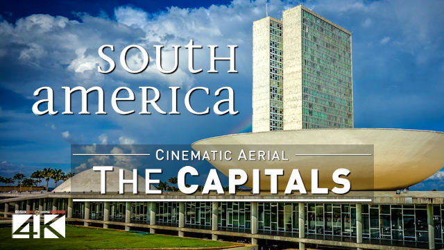 【4K】4 Capitals of SOUTH AMERICA from Above | Cinematic Wolf Aerial™ Drone Film