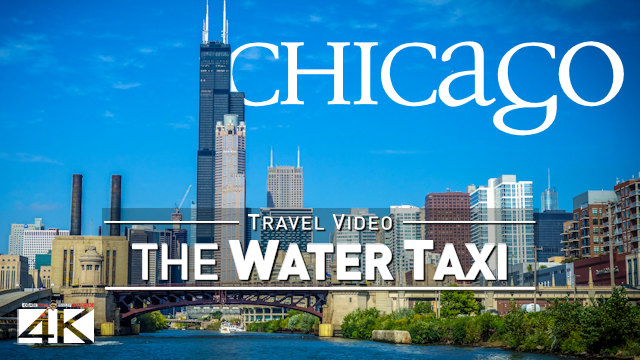 【4K】Full Ride with the Chicago Water Taxi | Chinatown to Goose Island | UltraHD Travel Video