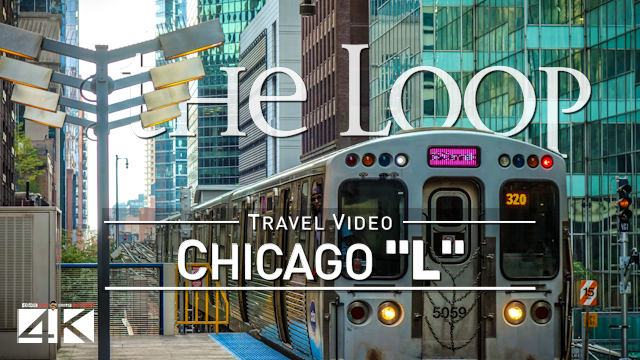 【4K】Riding The Loop | Chicago, Illinois | Full Circle CTA L | Cut out Stops | UltraHD Travel Video