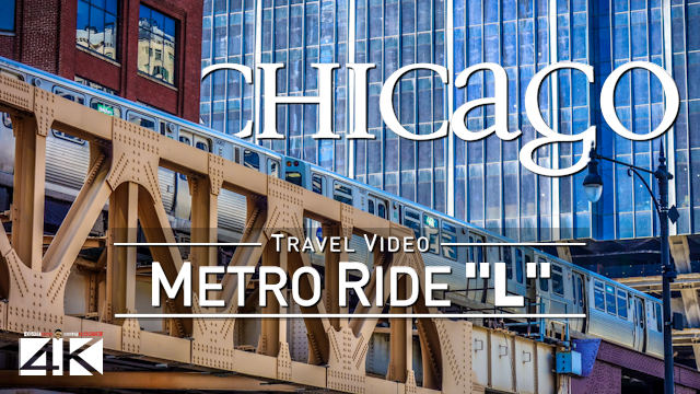 【4K】Riding the L in 2x Speed | Chicago, Illinois | The Loop to Western CTA | UltraHD Travel Video