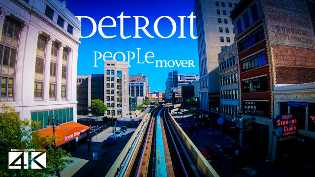 【4K】Detroit People Mover | Detroit, Michigan 2020 | Full Ride | Cut out Stops | UltraHD Travel Video