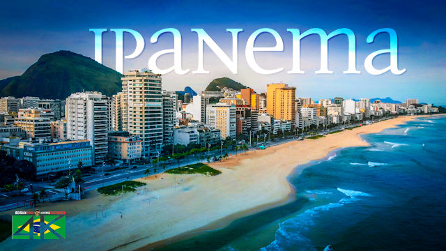 【4K】Ipanema Beach from Above | Times of Corona Virus BRAZIL 2020 | Rio de Janeiro Drone | April 15