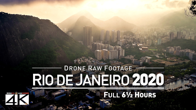 【4K】Drone RAW Footage | This is BRAZIL 2020 | Rio de Janeiro | Full 6 Hours | UltraHD Stock Video