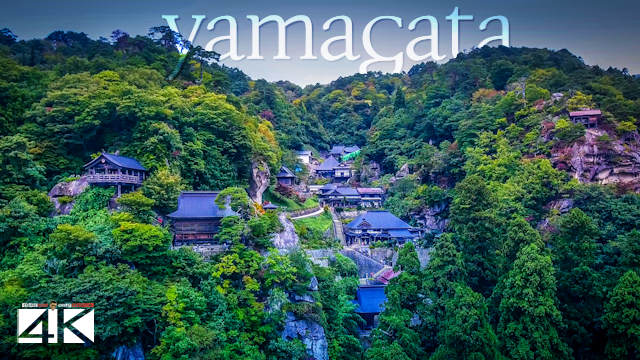 【4K】Yamadera from Above - JAPAN 2020 | Risshaku-ji Temple | Cinematic Wolf Aerial™ Drone Film