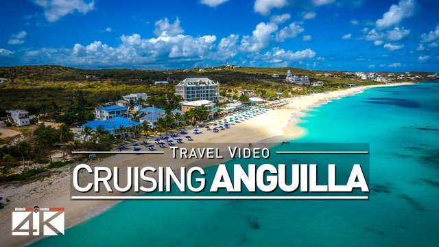 【4K】Footage | Sailing from SAINT-MARTIN to ANGUILLA ..:: Caribbean 2017