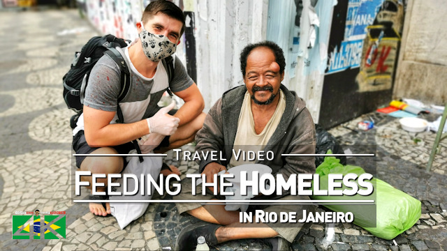 【4K】Feeding the Homeless in Rio de Janeiro (Brazil) | 2020 | Vlog #1 | UltraHD Travel Video