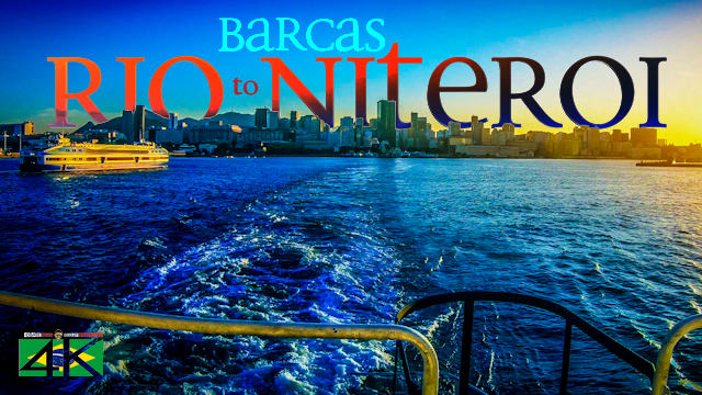 【4K】Sunset Boat Trip from Rio de Janeiro to Niteroi (Brazil) | 2020 | CCR Barcas