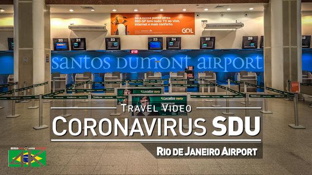 【4K】Virtual Walking Tour | Lockdown Santos Dumont - BRAZIL 2020 | Rio de Janeiro SDU Airport Scenes