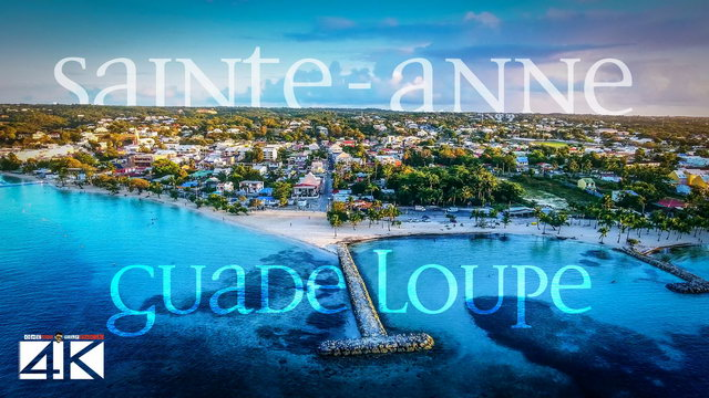 【4K】Sunrise in Sainte-Anne from Above - GUADELOUPE 2020 | Cinematic Wolf Aerial™ Drone Film