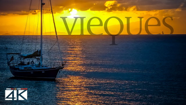 【4K】Sunset in Vieques from Above - PUERTO RICO 2020 | Cinematic Wolf Aerial™ Drone Film