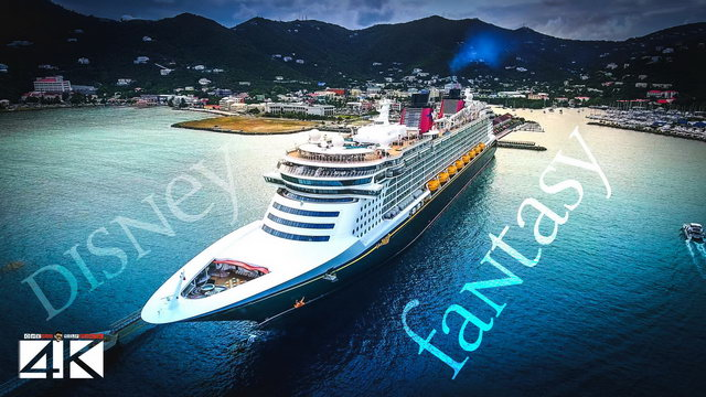 【4K】CRUISE SHIPS from Above | Disney Fantasy & Norwegian Escape 2020 | BVI | Cinematic Wolf Aerial™
