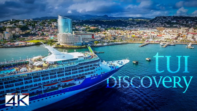 【4K】CRUISE SHIPS from Above | Marella / TUI Discovery 2020 | Martinique | Cinematic Wolf Aerial™