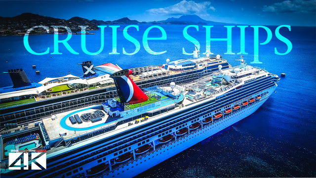 【4K】6 Cruise Ships from Above - CARIBBEAN 2020 | Cinematic Wolf Aerial™ Drone Film