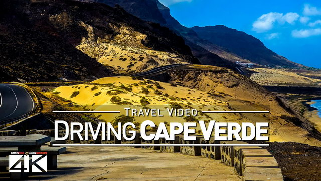 【4K】30 MINUTES | Driving São Vicente (Cape Verde) on a Motorbike | 2020 | Mindelo | UltraHD Video