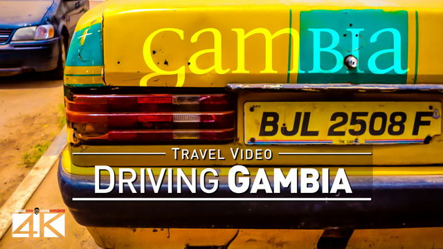 【4K】15 MINUTES | Driving The Gambia (West Africa) | 2020 | Banjul | Serekunda | UltraHD Video