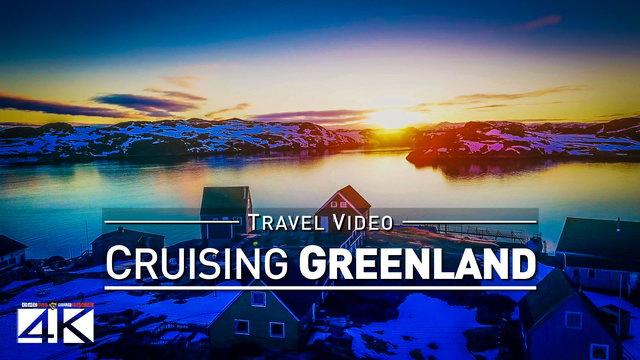 【4K】Footage | Cruising QEQERTARSUATSIAAT ..:: Greenland Arctic Circle 2018