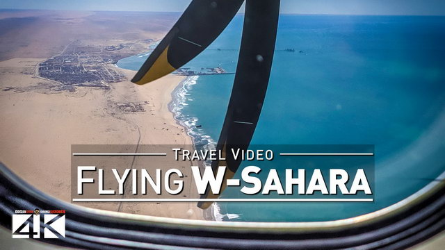 【4K】Flying over Western Sahara | Landing in Laayoune EUN | 2020 | Bintar Canarias Flight | UltraHD