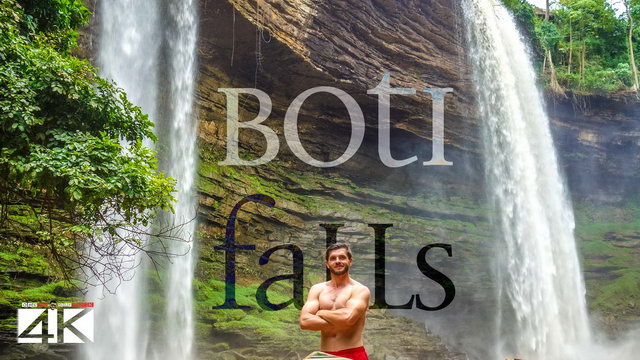 【4K】The Boti Falls and Umbrella Rock (Ghana) | 2020 | UltraHD Travel Video