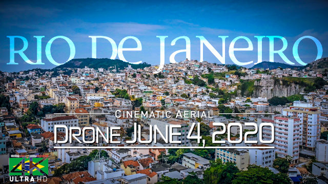 【4K】Lockdown of Rio de Janeiro »1 Hour | BRAZIL | June 4, 2020 | Cinematic Wolf Aerial™ Drone Film