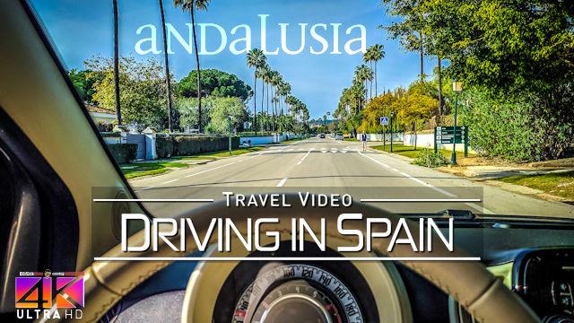 【4K】Driving around Andalusia Malaga (Spain) to Gibraltar | Amazing Views 2020 | UltraHD Travel Video