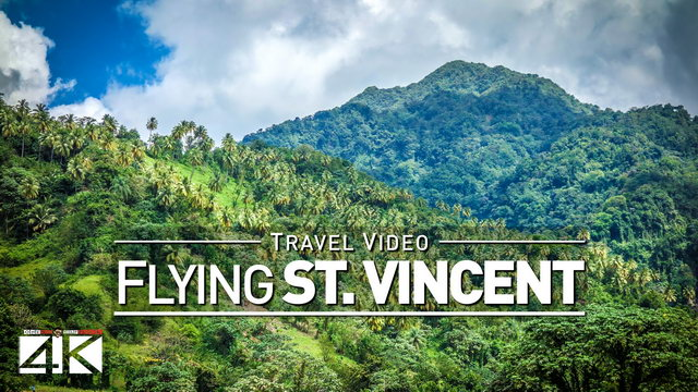 【4K】Footage | Flying out from SAINT VINCENT AND THE GRENADINES ..:: Caribbean 2019